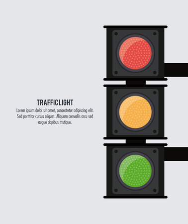 trafficlight: semaphore trafficlight sign warning road street icon. Colorful and isolated design. Vector illustration
