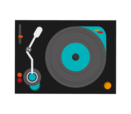 turntable: flat design small turntable icon vector illustration