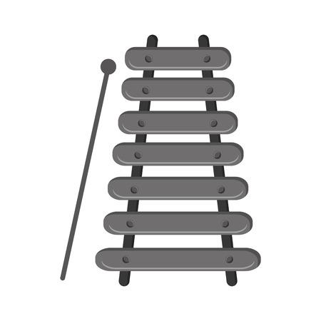 xylophone: flat design single xylophone icon vector illustration Illustration