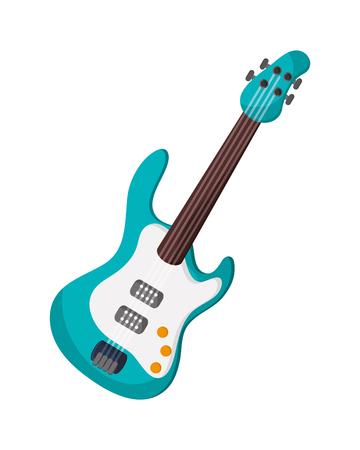 paul: flat design electric guitar icon vector illustration Illustration