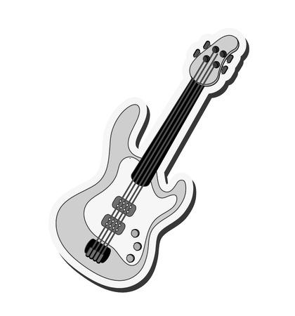 flat design electric guitar icon vector illustration Illustration