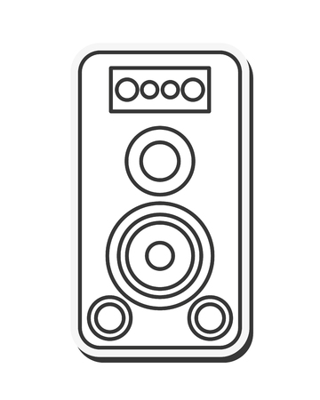 party system: flat dessign music speaker icon vector illustration
