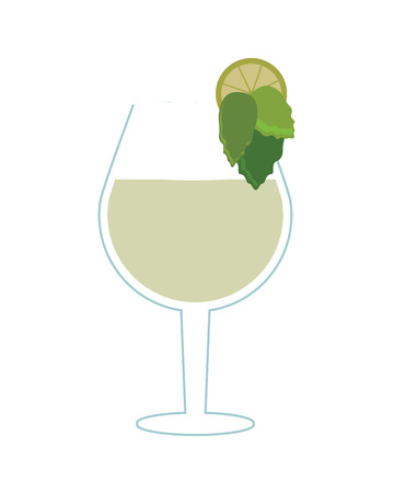 flat design single cocktail icon vector illustration
