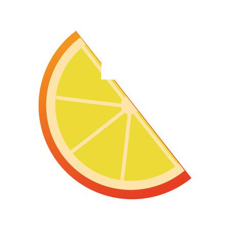 lemon slice: flat design lemon slice icon vector illustration
