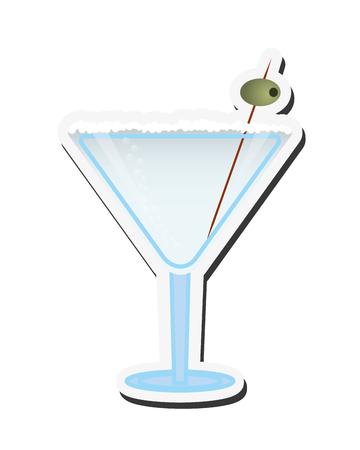 aperitif: flat design martini cocktail icon vector illustration Illustration