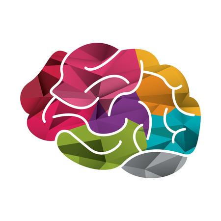 flat design colorful human head icon vector illustration Illustration