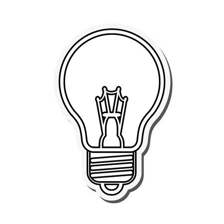 flat design regular lightbulb icon vector illustration