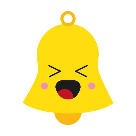 flat design cute bell icon vector illustration Illustration