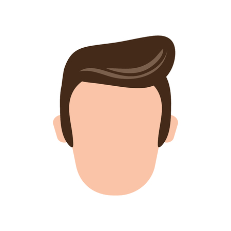 anonymity: flat design faceless man icon vector illustration