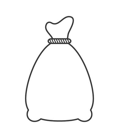 sack: flat design canvas sack icon vector illustration Illustration