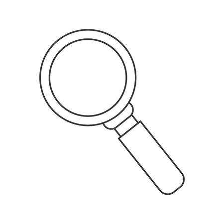 inquire: flat design magnifying glass icon vector illustration