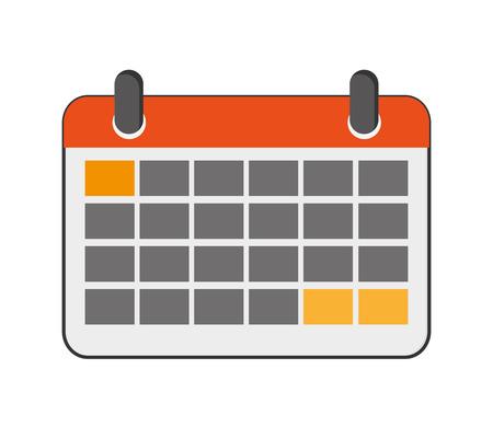 calendar design: flat design paper calendar icon vector illustration