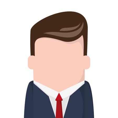 faceless: flat design faceless businessman icon vector illustration Illustration