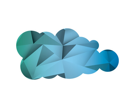 flat design abstract single cloud shape icon vector illustration Illustration