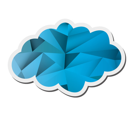 overcast: flat design abstract single cloud shape icon vector illustration Illustration