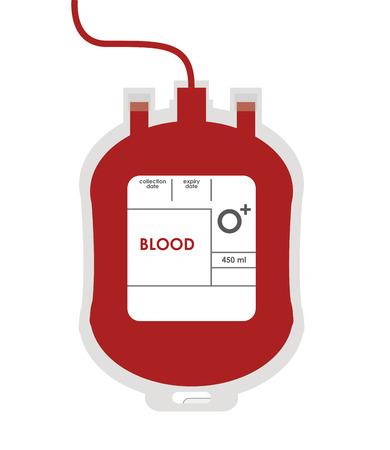 フラットの設計血液バッグ アイコン ベクトル図