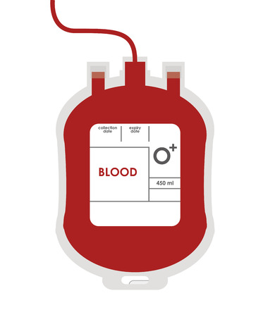 transfuse: flat design blood bag icon vector illustration