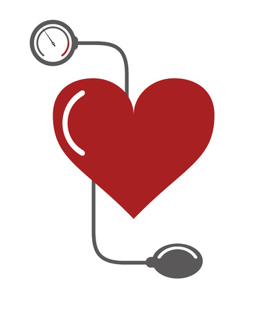cuff: flat design blood pressure cuff icon vector illustration