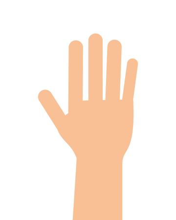 flat design open hand icon vector illustration