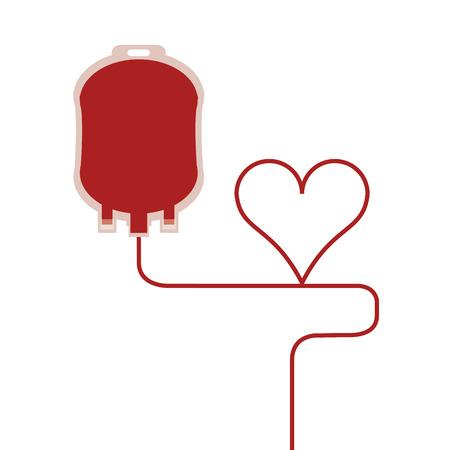 salvavidas: El diseño plano de bolsas de sangre ilustración del vector del icono Vectores
