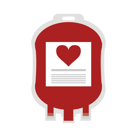 donor blood type: flat design blood bag icon vector illustration