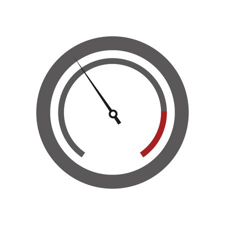 Icono de la ilustración vectorial manómetro de presión de diseño plano Ilustración de vector