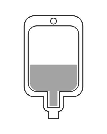 blood bag: flat design blood bag icon vector illustration