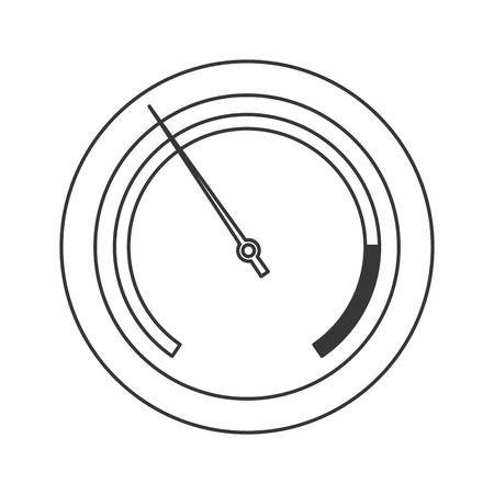 physical pressure: flat design pressure manometer icon vector illustration Illustration