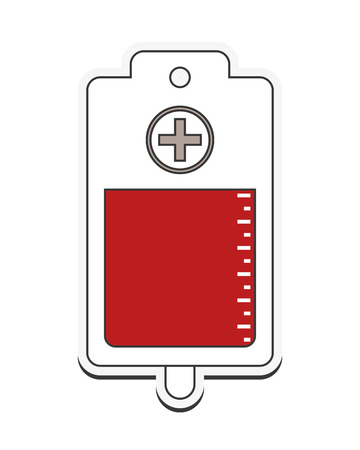 blood bag: blood bag donation medical health care icon. Flat and Isolated design. Vector illustration Illustration