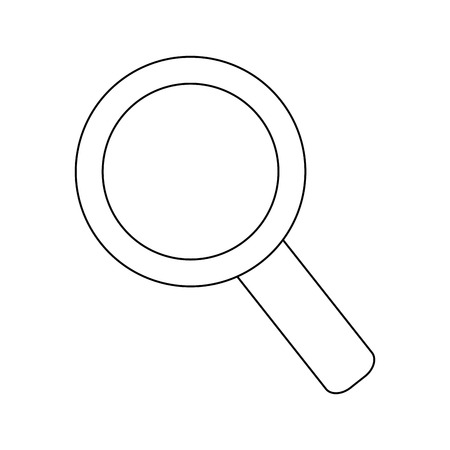 lupe: lupe magnifying glass search icon. Flat and isolated design. Vector illustration