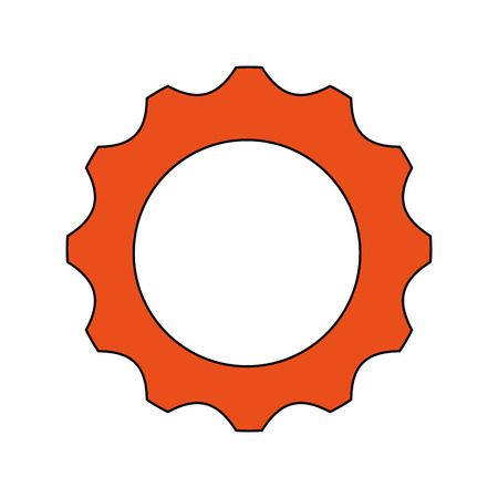 machine part: gear cog machine part circle icon. Flat and isolated design. Vector illustration