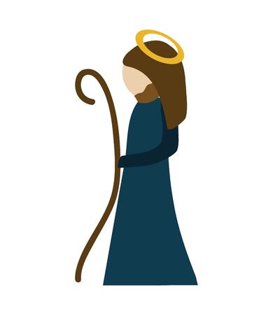 pastor: holy pastor man icon, vector illustration design Illustration