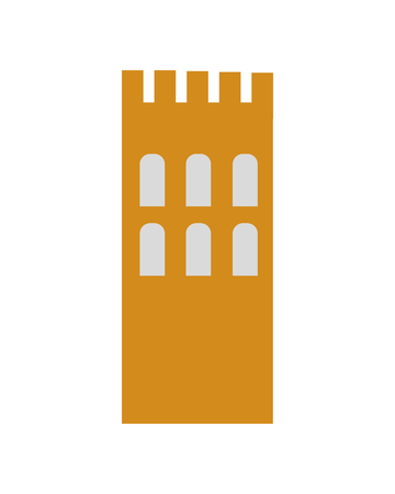old window: building antique old window arrow urban icon. Flat and isolated design. Vector illustration
