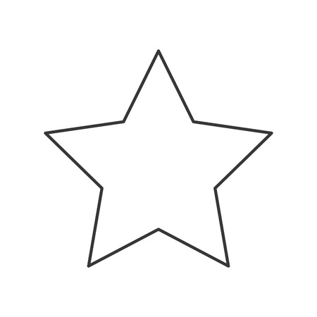 star award: star shape decoration sky award emblem icon. Flat and isolated design. Vector illustration