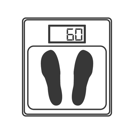 weighing scale: flat design weighing scale icon vector illustration