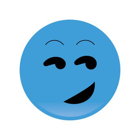 flirting: flat design flirting emoticon icon vector illustration