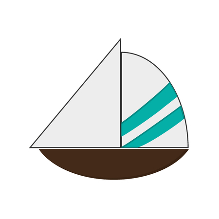 playtime: flat design simple sailboat icon vector illustration
