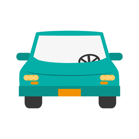 flat design car frontview icon vector illustration Illustration