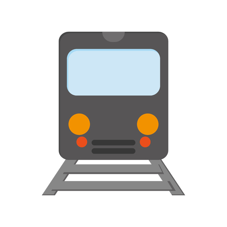 frontview: flat design train frontview icon vector illustration
