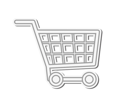 sell online: flat design shopping cart icon vector illustration