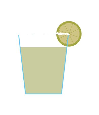 garnished: flat design garnished cocktail icon vector illustration