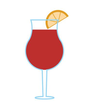 flat design garnished cocktail icon vector illustration