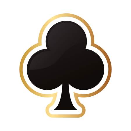 queen of clubs: flat design club card icon vector illustration