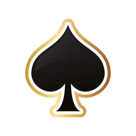 El diseño plano de pala tarjeta de la ilustración del vector del icono Foto de archivo - 61748080