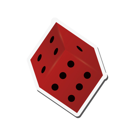 numbers clipart: flat design single dice icon vector illustration
