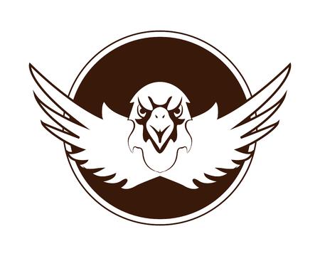 prophetic: flat design eagle emblem icon vector illustration