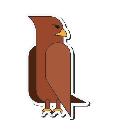talons: flat design eagle cartoon icon vector illustration Illustration
