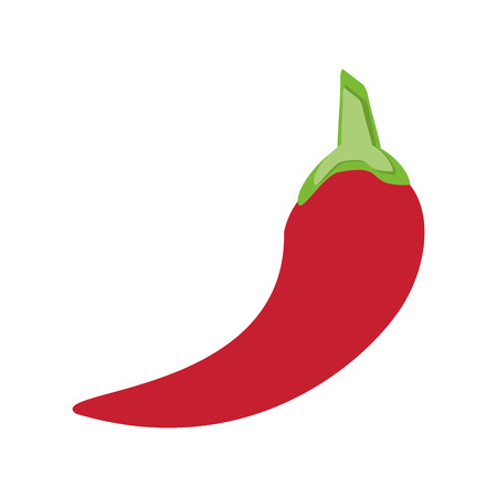 hot pepper: flat design red hot chili pepper icon vector illustration