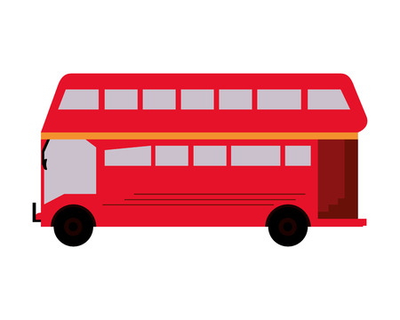 double decker bus: flat design double decker bus icon vector illustration Illustration
