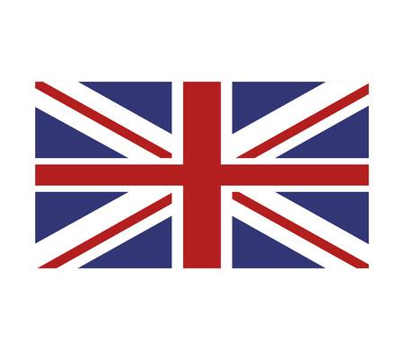u k: flat design union jack great britain flag icon vector illustration Illustration